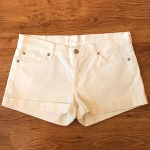 NWOT 7 For All Mankind Off White Shorts